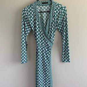 Banana Republic midi wrap dress